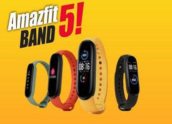 مچ بند هوشمندAmazFit Band 5 با قابلیت پایش اکسیژن خون معرفی شد